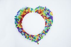 Colorful beads isolated on white background royalty free stock image
