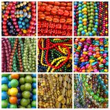 Colorful beads mix Stock Photography