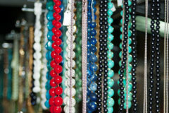 Colorful beads and necklaces - 5 Royalty Free Stock Images
