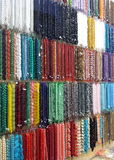 Colorful beads for sale stock image