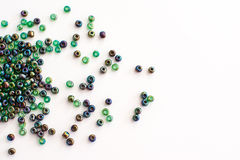 Colorful beads on a white background Royalty Free Stock Photo