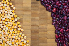 Colorful bean and pea Royalty Free Stock Images