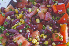 Colorful Bean Salad Close Up Stock Photography