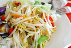 Colorful Bean Sprouts With Rice