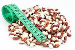 Beans and meter Stock Photo