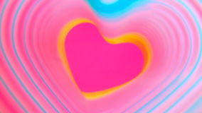 Colorful beating heart Rainbow spring. Valentine`s Day concept. Pink heart frame slow motion. Lgbt glbt sign. Colorful beating heart Rainbow spring. Valentine`s stock video