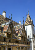 Colorful beaune hospice famous roof Royalty Free Stock Image