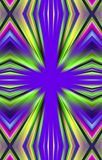 Colorful  beautiful background of colored rays, strips from the middle in the edges. Abstract unique background. Illustration and decoration. Violet and green Stock Image