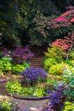Colorful Beautiful English Garden during Fall Season, England, U Stock Images