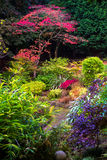 Colorful Beautiful English Garden during Fall Season Royalty Free Stock Images