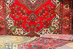 Colorful and beautiful Oriental rugs in pure Virgin wool 1 Stock Photos