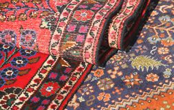 Colorful and beautiful rugs in pure wool for sale 6 Royalty Free Stock Photography