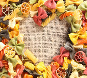 Colorful beauty Pasta Heart Stock Photo