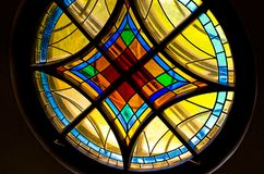 Round stained glass Royalty Free Stock Photo