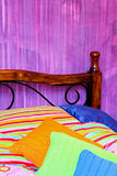 Colorful bedding Stock Images
