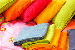 Colorful bedding Stock Image