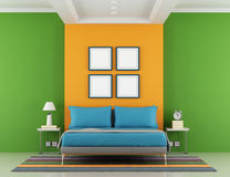 Colorful bedroom Royalty Free Stock Photo