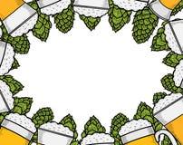 Colorful beer menu Stock Image