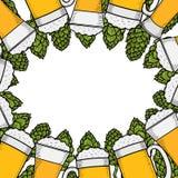 Colorful beer menu design template Royalty Free Stock Photos