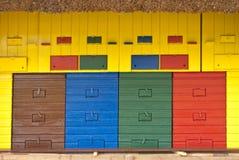 Colorful Beeyard Stock Photo