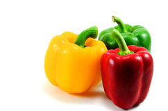 Colorful bell pepper. Bell pepper is colorful, beautiful to eat Royalty Free Stock Images