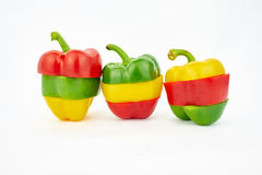 Colorful bell pepper Royalty Free Stock Photos