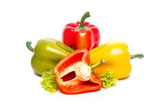 The colorful bell pepper Royalty Free Stock Photography