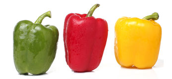 Colorful Bell Pepper on White background Stock Images