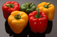 Colorful Bell Peppers Royalty Free Stock Photography