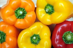 Colorful bell peppers Royalty Free Stock Photos