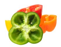 Colorful bell peppers Royalty Free Stock Photo
