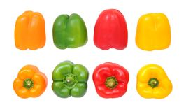 Colorful bell peppers Stock Photos