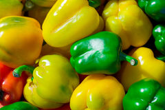 Colorful bell peppers, natural background Stock Image