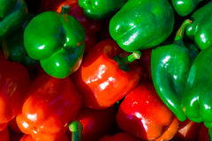 Colorful bell peppers, natural background Royalty Free Stock Images