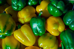 Colorful bell peppers, natural background Royalty Free Stock Photos