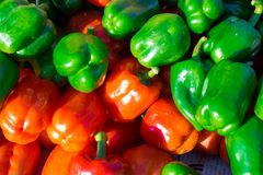 Colorful bell peppers, natural background Royalty Free Stock Image