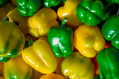 Colorful bell peppers, natural background Stock Images