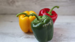 Colorful bell peppers stock video footage