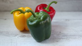 Colorful bell peppers stock video
