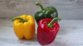 Colorful bell peppers stock footage