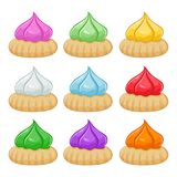 Colorful Belly Button Biscuits Set, Also known as Kue Monas Royalty Free Stock Photos