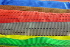 Colorful belt diversity, closeup fabric, Stock Images