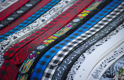 Colorful belts Royalty Free Stock Images