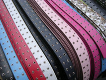 Colorful Belts. Sold by street vender, NYC stock photos