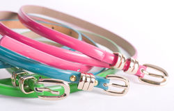 Colorful belts Royalty Free Stock Image
