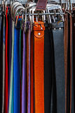 Colorful belts Stock Image