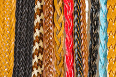 Colorful belts texture for background. Stock Image