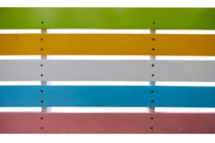 Colorful bench isolate for decoration. Stock Photography