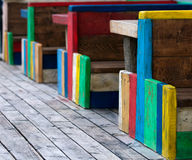 Colorful  benches Stock Photo