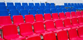 Colorful benches Royalty Free Stock Images